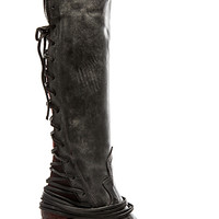 Coal Boot in Black Leather
