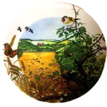 Vintage Wedgwood Bone China Plate Country Panorama 3rd Issue The Village in the Valley