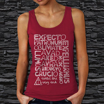 Harry Potter Spells Woman Tank Top (Color Available)