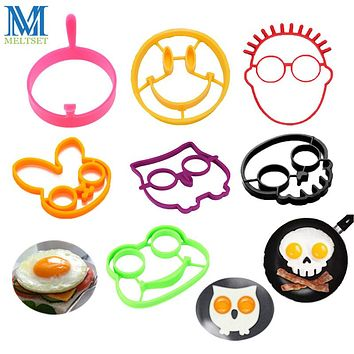 1PC Silicone Egg Rings Breakfast Egg Molds Pancake Egg Moulds Cooking Tools Kitchen Accessories