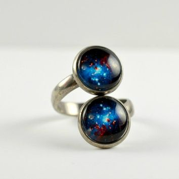 Space Sparkle Spiral Ring