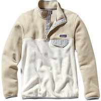 Women's Patagonia Synchilla Lightweight Snap-T - Bleached Stone Jackets