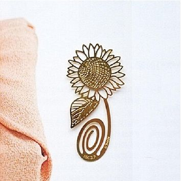 Gold Plated Sunflower Souvenir