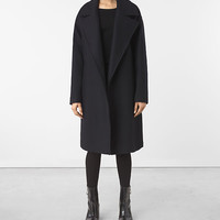 ALLSAINTS US: Womens Indira Nesi Coat (Ink Blue)