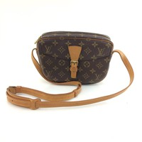 AUTH Louis Vuitton Monogram Canvas leather Jeune Fille M51227 Shoulder Bag