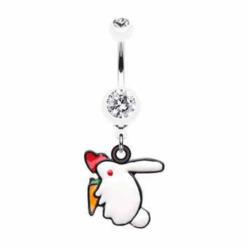 Love Bunny Belly Button Ring