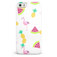 Animated Flamingos and Fruit iPhone 5/5s or SE Candy Shell Case