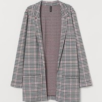 Long Jacket - Pink/checked - | H&M US
