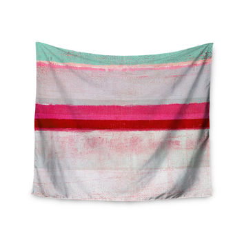 "CarolLynn Tice ""Higher"" Pink Mint Wall Tapestry"