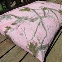 Pet Bed Duvet Cover Realtree Pink Camo, Canine Cloud Dog Bed Cover