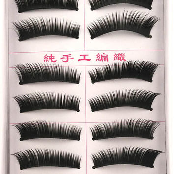 20 Pairs Thick Black Faux Lashes Makeup False Eyelashes Long Fake Eye lashes Beauty Eyelash Extension maquiagem free shipping