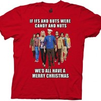 The Big Bang Theory Cast We'd All Have A Merry Christmas Adult T-Shirt