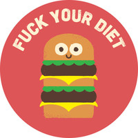 David Olenick Discounting Calories Adhesive Print