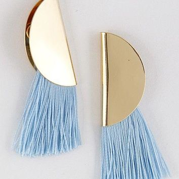 Cha Cha Blue & Gold Earrings