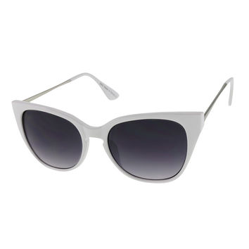 Womens Cateye Sunglasses with Metal Temples