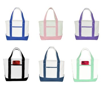 "DALIX 14"" Mini Cotton Canvas Gift Tote Bag"