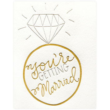 You're Getting Married Engagement Card