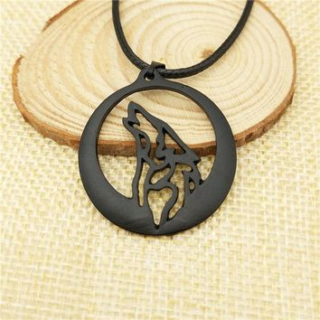 Drop dropping Fashion Howling Wolf Totem pendant Necklace for Women Men Game Of Thrones necklace animal Jewelry Christmas gifts
