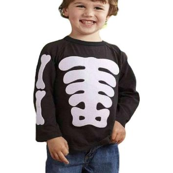 Mud Pie-Boys Halloween Skeleton T-Shirt