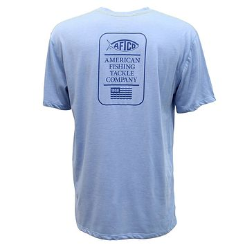 Haze Performance Tee Shirt in Magnum Blue by AFTCO