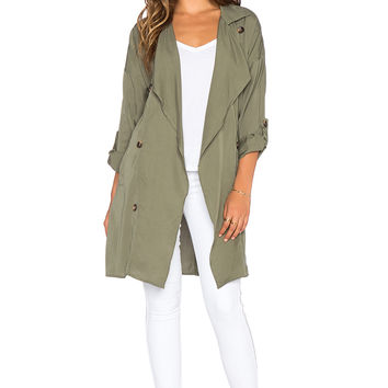 Toby Heart Ginger x Love Indie June Trench Coat in Khaki