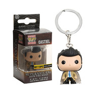 Funko Supernatural Pocket Pop! Castiel Trenchcoat Key Chain Hot Topic Exclusive