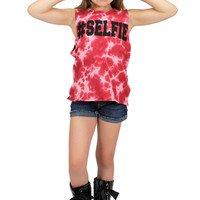 Dirtee Hollywood Selfie Tie Dye Sleeveless Tee | Mod Angel