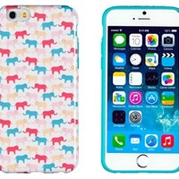 "iPhone 6 Case, DandyCase PERFECT PATTERN *No Chip/No Peel* Flexible Slim Case Cover for Apple iPhone 6 (4.7"" screen) - LIFETIME WARRANTY [Colorful Elephants]"