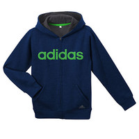 Adidas Boys 8-20 Core Cotton Fleece Jacket