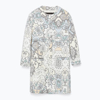 PIXELLATED PRINT COAT New