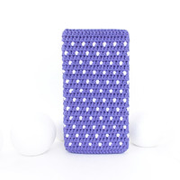 Purple iPod 6 pouch, polka dot Samsung Galaxy S5 cover, Moto G4 play sock, eco OnePlus X cozy, HTC m10 case, iPhone SE bag, Huawei P9 sleeve