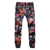 Vintage Tight Ankle Length Floral joggers