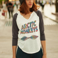 Arctic Monkeys Tee Shirt Women T-Shirt Baseball Shirt Band Shirt Raglan Tee Graphic Tops Hipster Women Clothing