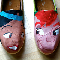 KOOAK Kustom Order - Peter Pan and Tiger Lily Inspired Flats