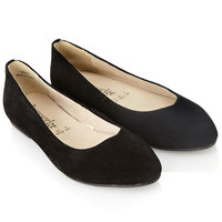 Simple Suede Ballerina | Black | Accessorize