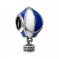 Hot Air Balloon Charm Bead Fit Pandora Snake Chain Bracelet Jewelry