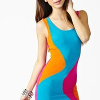 Neon Swirl Mini Dress