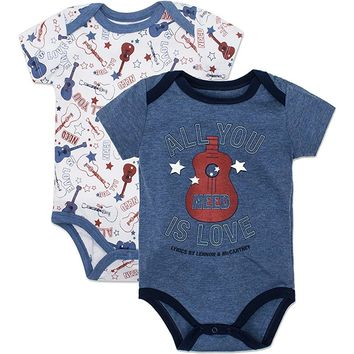 Lyrics by Lennon & McCartney The Beatles 'All You Need is Love' Baby Boys' Bodysuits Guitar