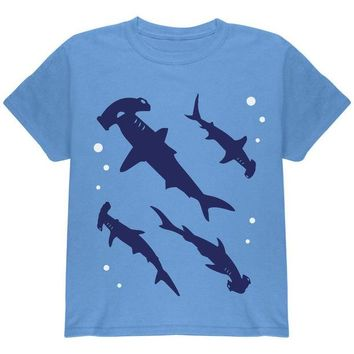 VONEG5F Hammerhead Shark Sharks School Youth T Shirt