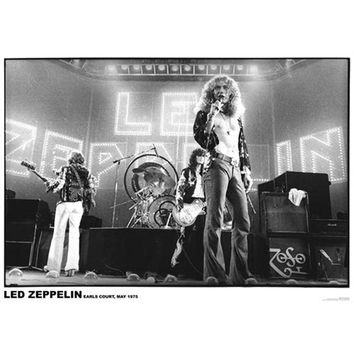 Led Zeppelin - Earl's Court 1975 24x36 Standard Wall Art Poster