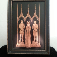 Now On Sale Copper Etching Replica Picture ** English Medieval Echyngham Family