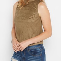 Faux Suede Mock Neck Tank by Sadie Robertson x Wild Blue™ | Casual Tank Tops | rue21