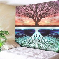 Tree Pattern Tapestry Microfiber Wall Hanging