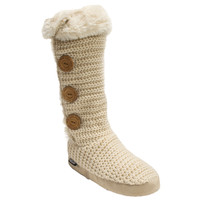 Muk Luks Malena Women's Knit Sweater Winter Slipper Boots
