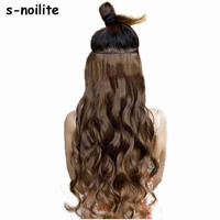 "S-noilite 18-28"" Curly 3/4 Full Head Clip in Hair Extensions"