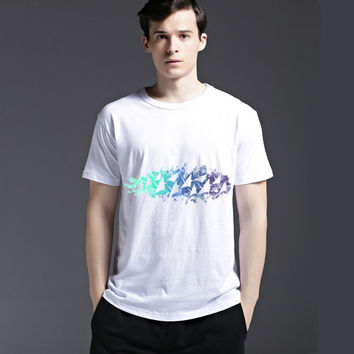 Creative Cotton Summer Simple Design Tee Fashion Strong Character Short Sleeve Men's Fashion Stylish Casual T-shirts = 6451075267