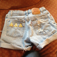 Sorority jean shorts custom by KenzieLeighDesigns on Etsy