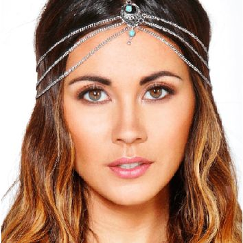 Stone Detail Hair Chain