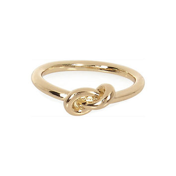 River Island Womens Gold tone knot ring