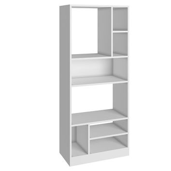 Durable Valenca Bookcase 3.0 with 8- Shelves in White
